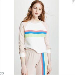 NWT wildfox striped crop pullover sweatshirt